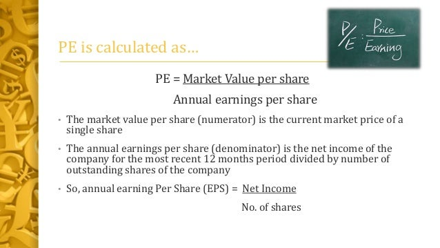 relationship between eps and pe ratio
