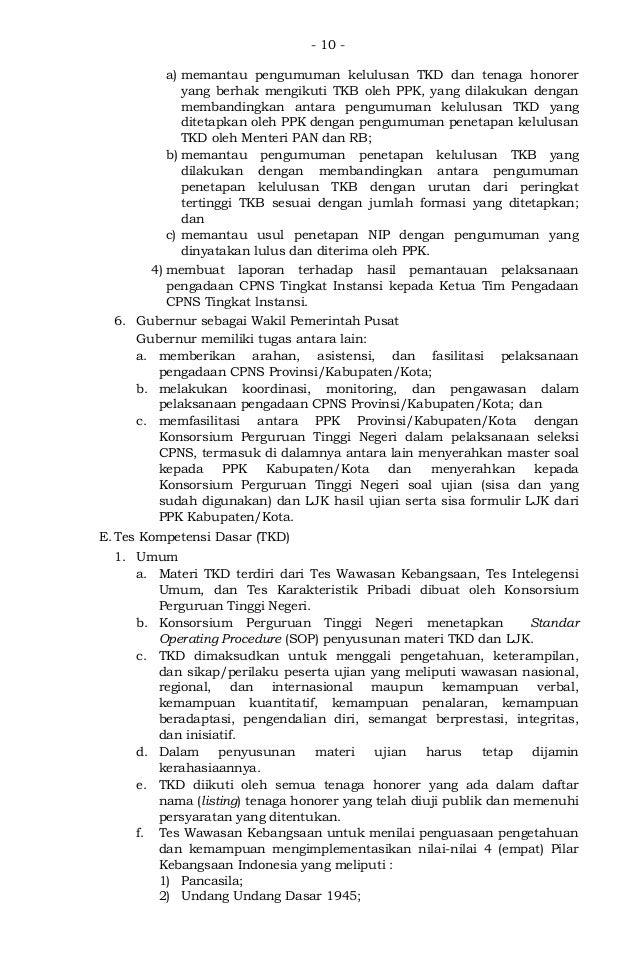 Peraturan Kepala Bkn No 9 Tahun 2012