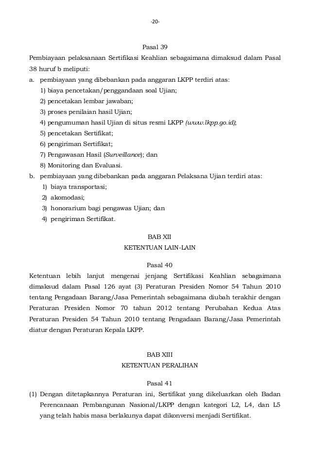Peraturan Kepala Lkpp No 9 Tahun 2014 Tentang Petunjuk