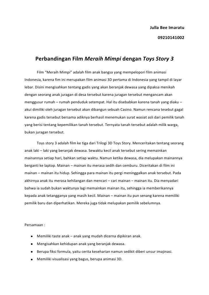 Perbandingan Film Meraih Mimpi Dengan Toys Story 3