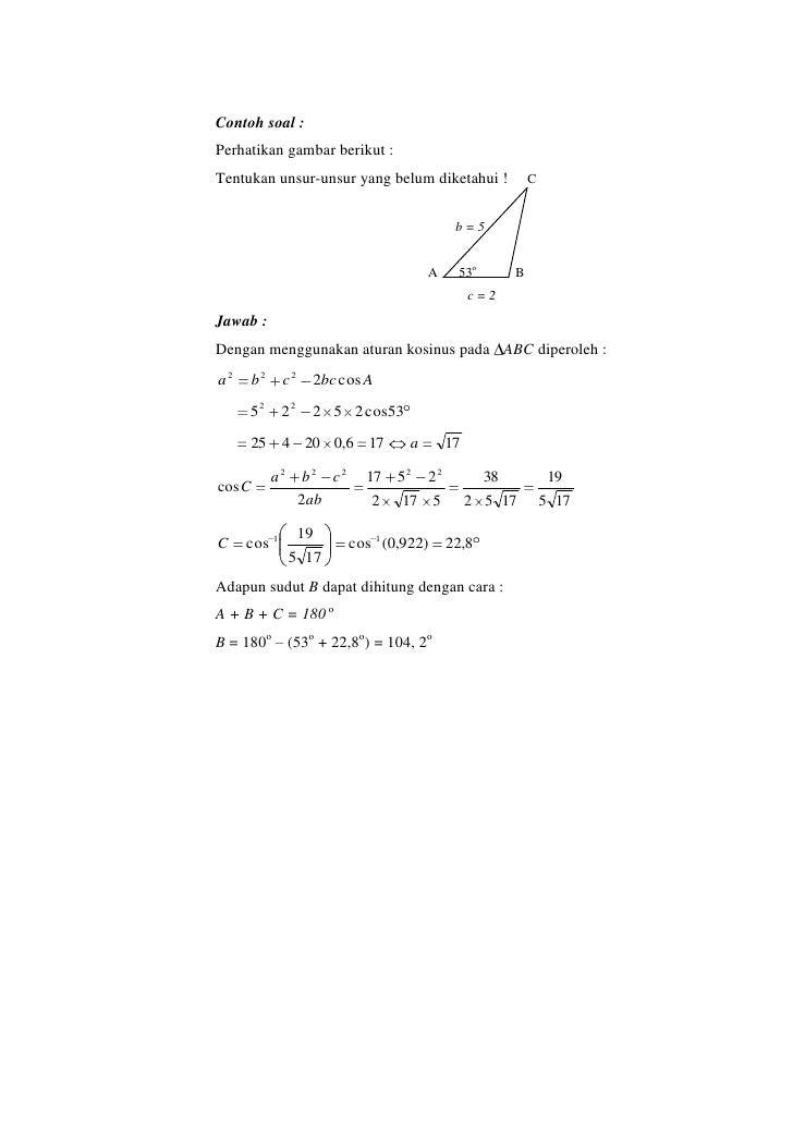 Contoh Soal Identitas Trigonometri Kumpulan Soal Pelajaran 5