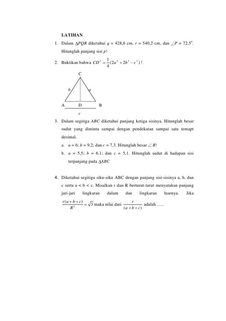 perbandingan fungsi persamaan dan identitas trigonometri