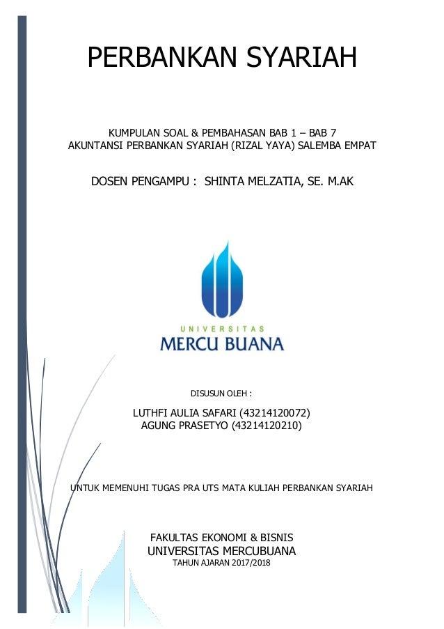 Soal Pembahasan Bab 1 7 Perbankan Syariah Rizal Yaya Salemba 4