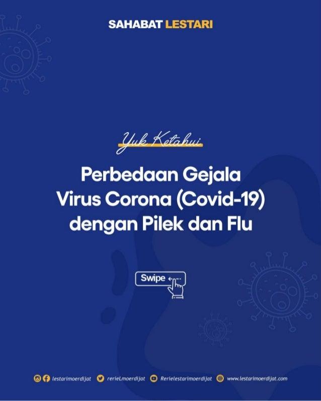 Perbedaan Gejala Corona Dengan Pilek dan Flu