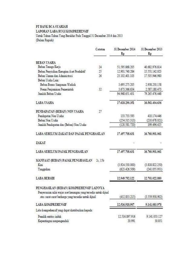 Analisis Perbedaan Laporan Keuangan Bank Bca Syariah Dan Konvensional