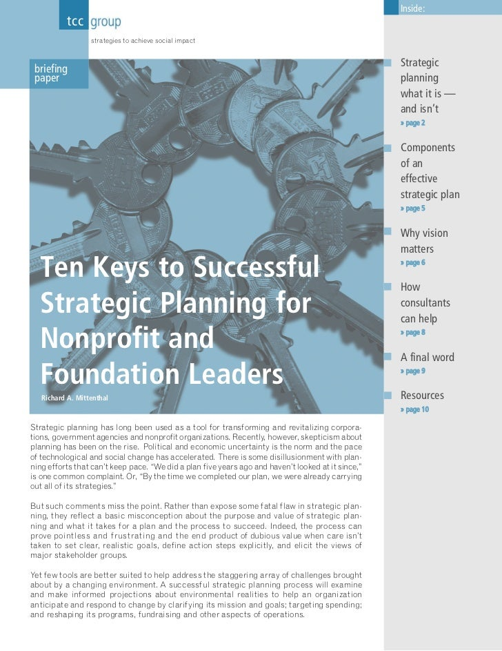 Inside:          tcc group                  strategies to achieve social impact                                           ...