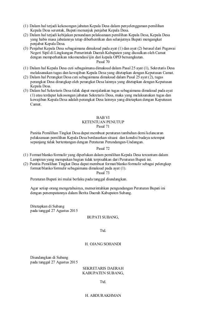 Contoh Surat Mandat Saksi Pilkades Suratmenyurat Net