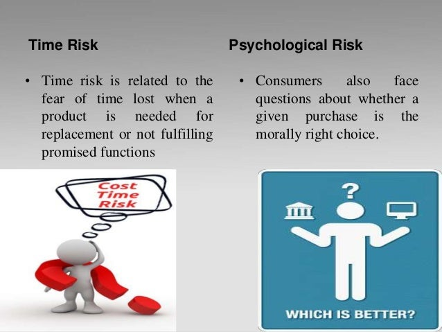 Time Risk • Time risk is related to the fear of time lost when a product is needed for replacement or not fulfilling promi...