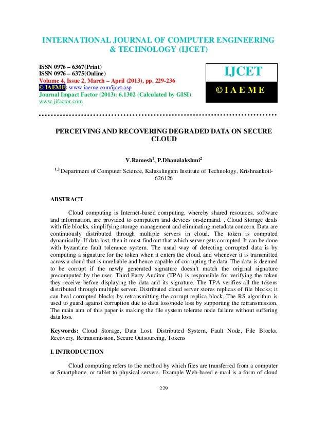International Journal of Computer Engineering and Technology (IJCET), ISSN 0976- INTERNATIONAL JOURNAL OF COMPUTER ENGINEE...