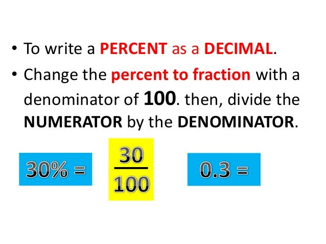 write percent as a fraction To convert from a percentage to a fraction, the percentage first needs to be divided by 100, in order to convert it to a decimal for example, 20 divided by 100 is 02 after that, the decimal is written above the number 1, for example, 02/1.