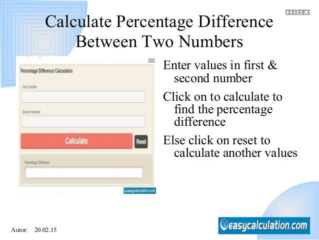 Percentage difference calculator second number 4 autor 200215 calculate percentage difference between two ccuart Choice Image