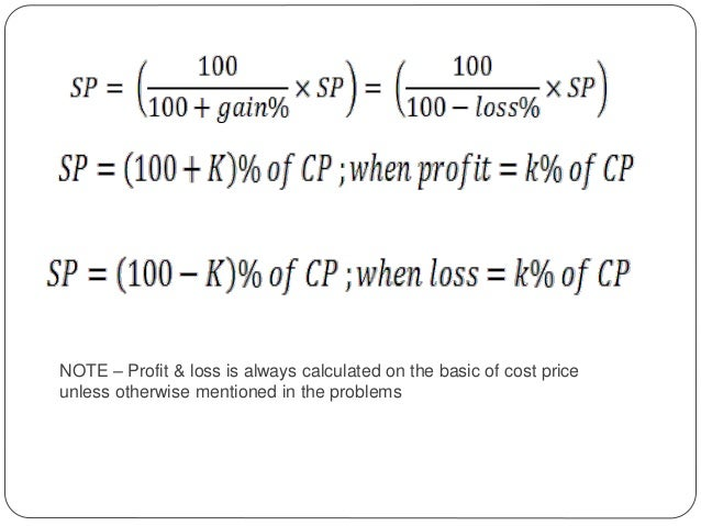 Percentage profit and loss – Basic P and L