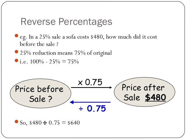 learn how to do percentages
