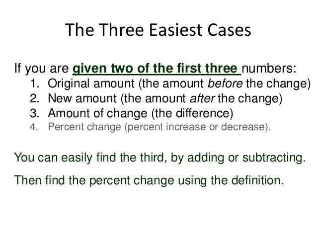 Percent change day 1 definition of percent change 7 the three easiest casesif you are given two ccuart Images