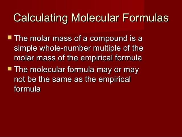 how to find molecular formula from empirical formula