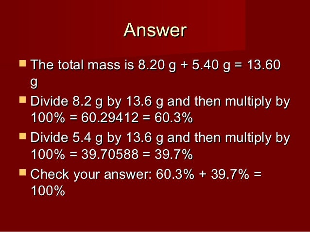 how to find empirical formula from percent