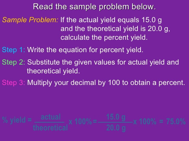 How to determine theoretical yield