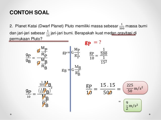 Contoh Soal Fisika Bab Gravitasi