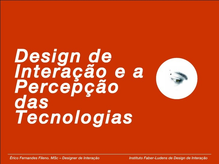 Percepção das Tecnologias