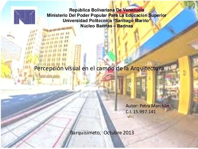 """República Bolivariana De Venezuela Ministerio Del Poder Popular Para La Educación Superior Universidad Politécnica """"Santia..."""