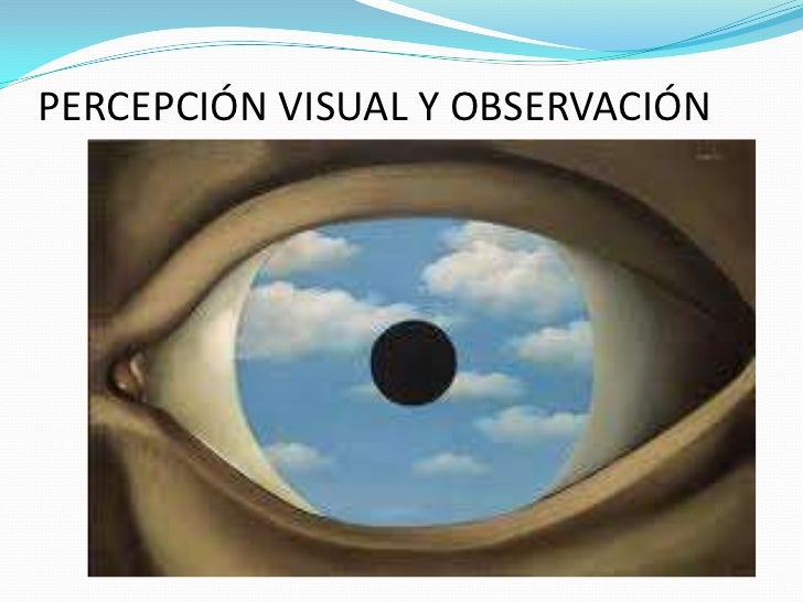 PERCEPCIÓN VISUAL Y OBSERVACIÓN