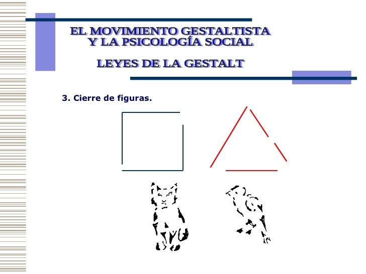 EL MOVIMIENTO GESTALTISTA Y LA PSICOLOGÍA SOCIAL  LEYES DE LA GESTALT 3. Cierre de figuras.