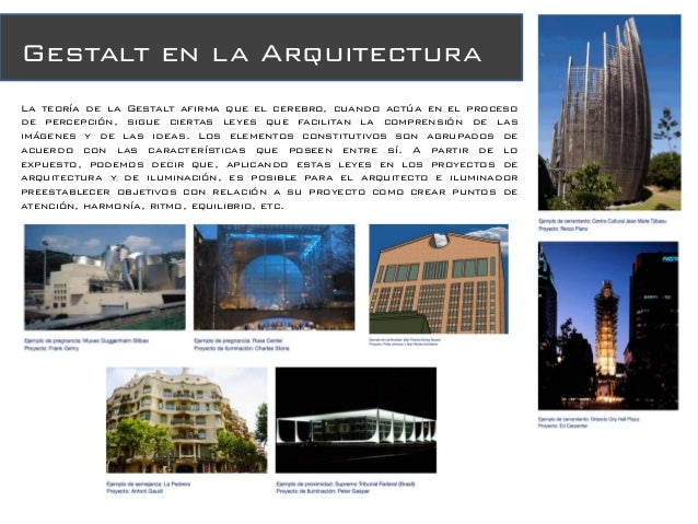 Percepcion visual Teoria de la arquitectura