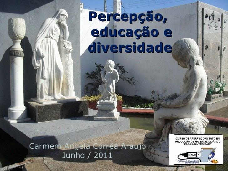 Percepção,             educação e             diversidadeCarmem Angela Corrêa Araujo      Junho / 2011