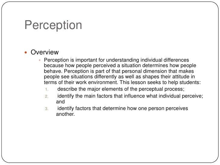 Perception Slide 2