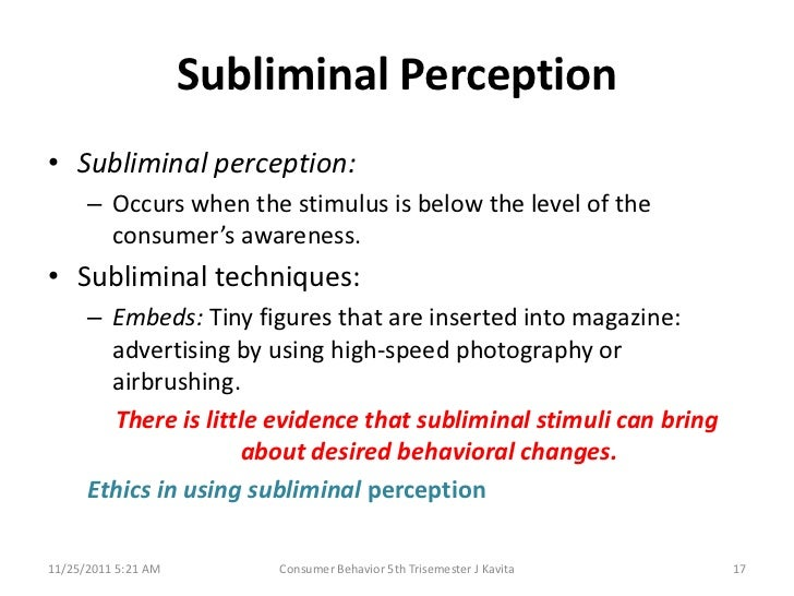subliminal perception definition