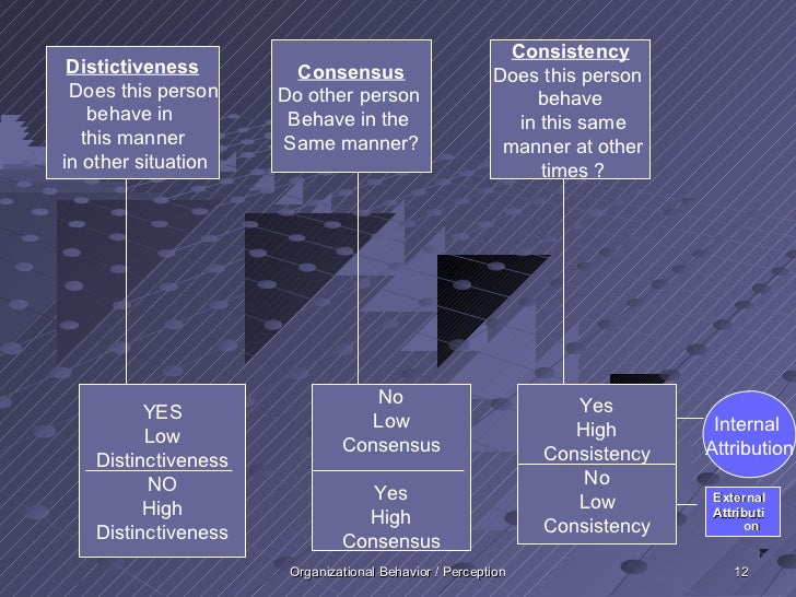 Consistency Distictiveness        Consensus                       Does this person Does this person    Do other person    ...