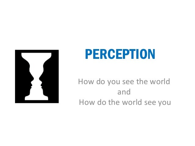 PERCEPTION  How do you see the world  and  How do the world see you