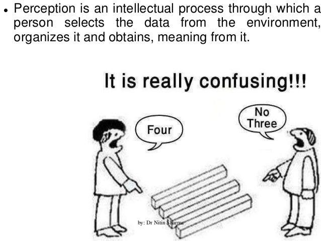Organizational Behaviour : Perception