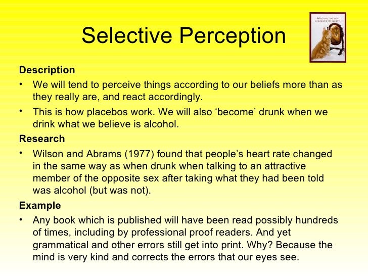 stereotypes and selective perceptions Those categories then automatically activate related stereotypes,  however,  the atl exhibits selective responses to social as opposed to.