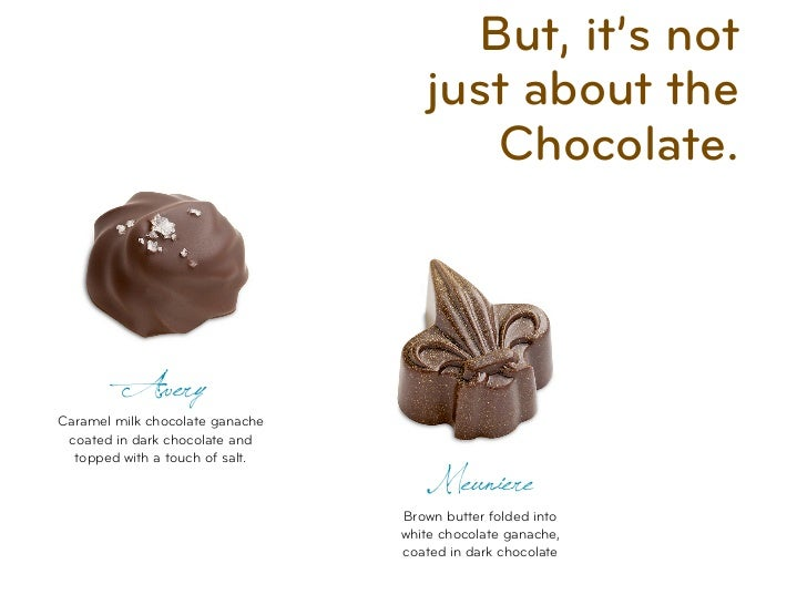 But, it's not                                    just about the                                        Chocolate.         ...