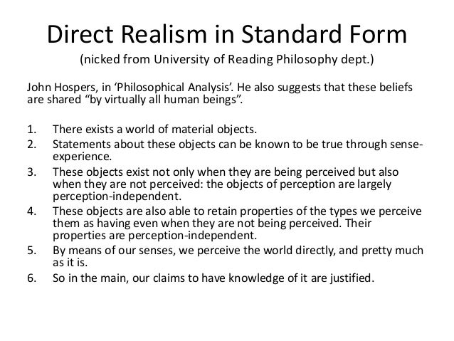 Perception 2016 Revision 1 Direct Realism