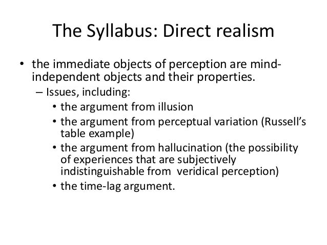 Perception 2016 revision 1. direct realism Slide 3