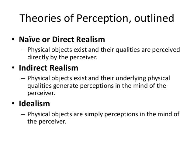 Direct and indirect realism