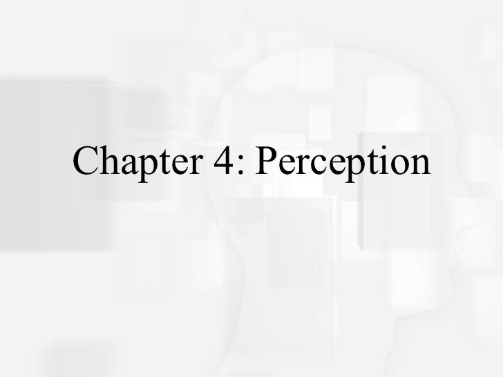 Chapter 4: Perception