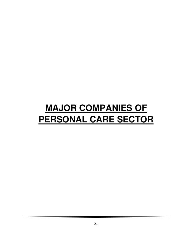 Consumer buying behaviour in personal care products