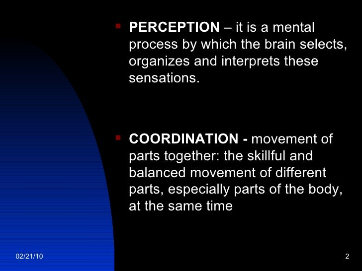 Perception And Coordination Slide 2