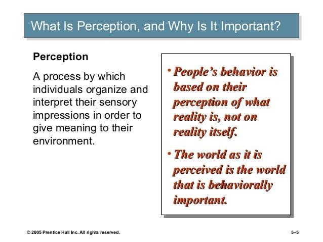 role of perception