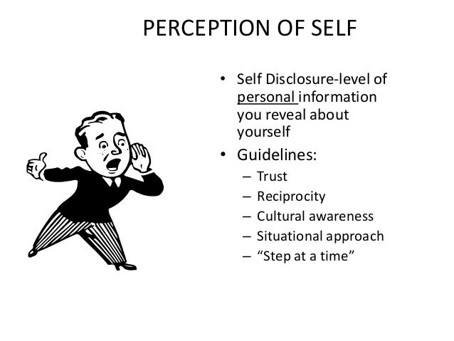 the self disclosures and the voluntary revealing of ones personality in the psychology Negative parental responses to coming out and family functioning in a sample  revealing sexual  it is a cultural given that mothers are the ones who take.