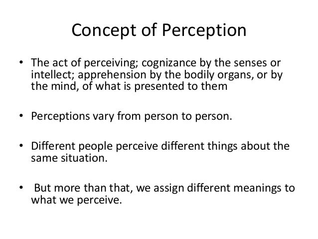 Stages Involved in Perception Process