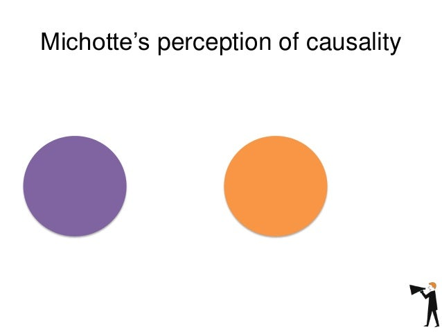 Michotte's perception of causality