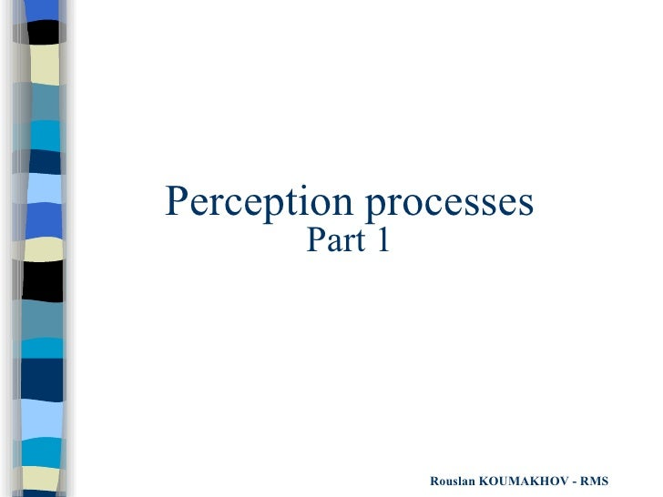 Perception processes Part 1