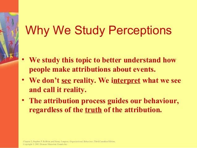 perception and attribution in organizational behaviour pdf