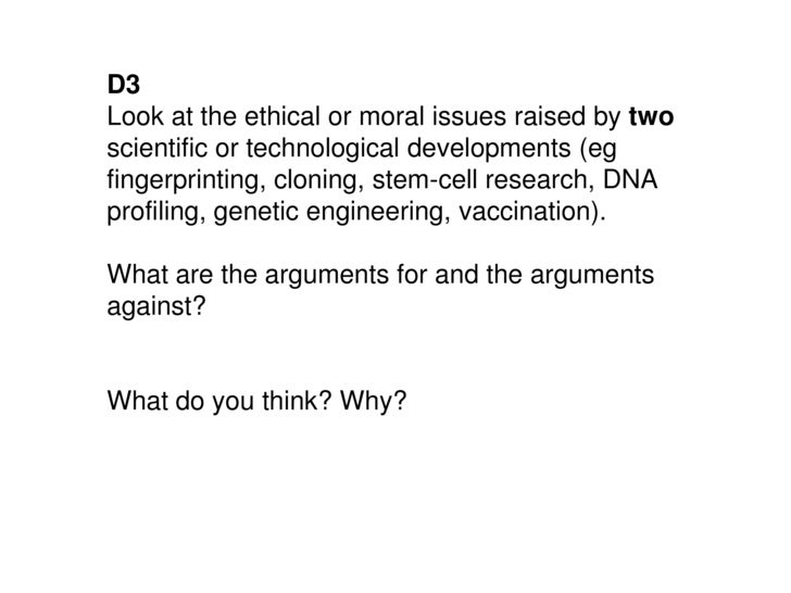 arguments for embryonic stem ce