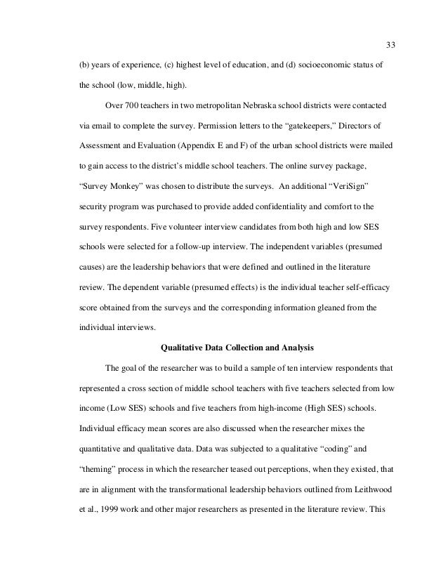 Self Efficacy Essay Sample