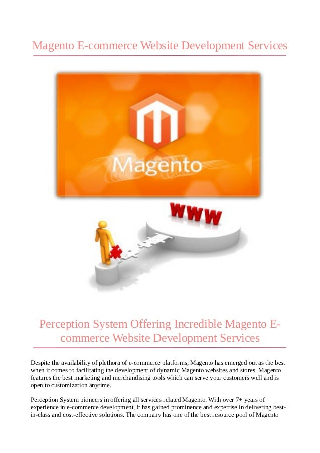 Magento E-commerce Website Development Services   Perception System Offering Incredible Magento E-       commerce Website ...